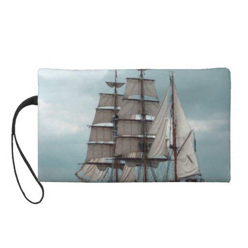 Gorgeous Tall Ship Wristlet Clutches