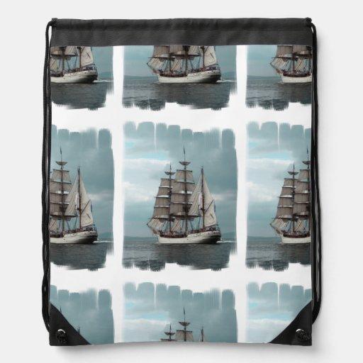 Gorgeous Tall Ship Cinch Bags