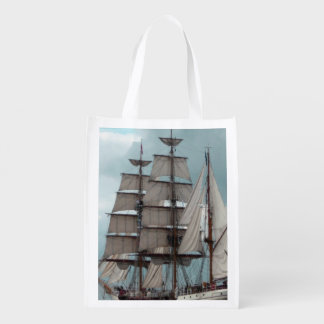 Gorgeous Tall Ship Grocery Bags