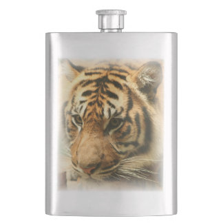 Gorgeous tiger hip flask
