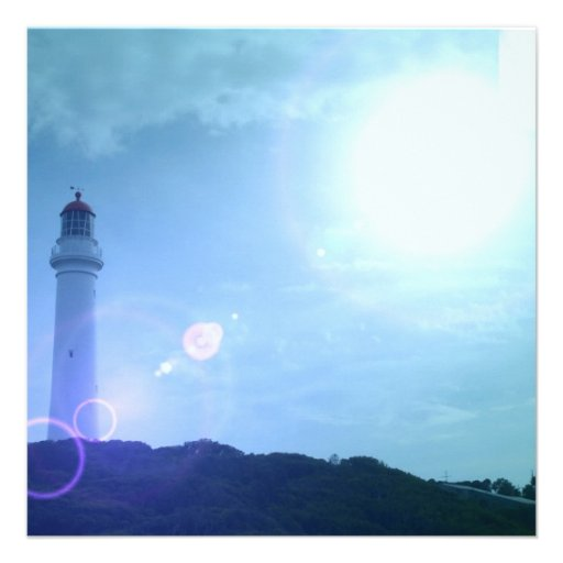 Gorgeous Towering Lighthouse Invitation