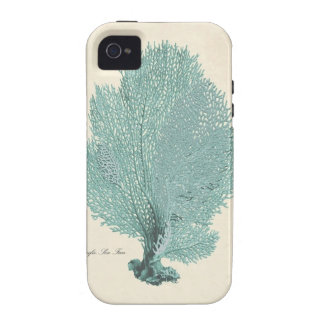 Gorgeous Turquoise/Aqua Pacific Sea Fan iPhone 4/4S Covers