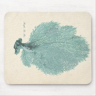 Gorgeous Turquoise/Aqua Pacific Sea Fan Mouse Mat