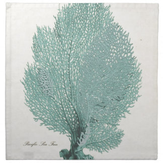 Gorgeous Turquoise/Aqua Pacific Sea Fan Napkin