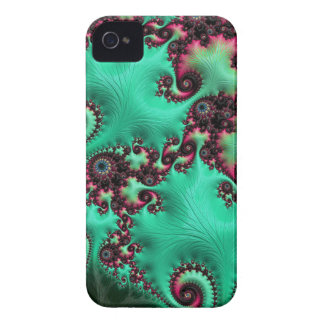 Gorgeous Turquoise Fractal Case-Mate iPhone 4 Cases