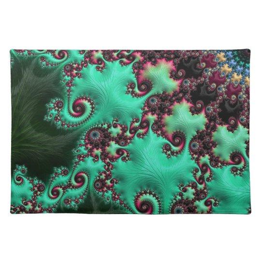Gorgeous Turquoise Fractal Place Mat