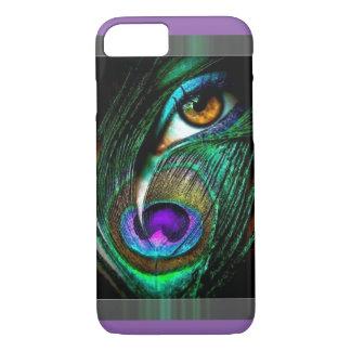 Gorgeous unique peacock design iPhone 7 case