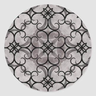 Gorgeous victorian gothic pattern gray and black sticker