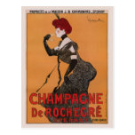 Gorgeous vintage art nouveau French champagne ad Post Cards
