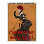 Gorgeous vintage art nouveau French champagne ad Posters