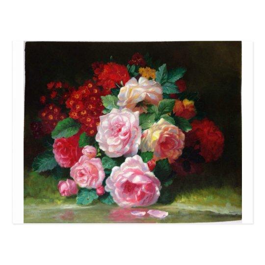 Gorgeous Vintage Flower Postcard