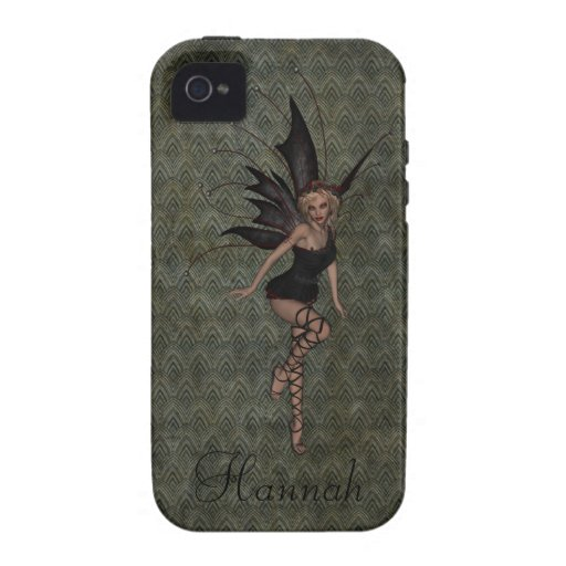 Gorgeous Vintage Gothic Fairy Personalized iPhone 4 Cases
