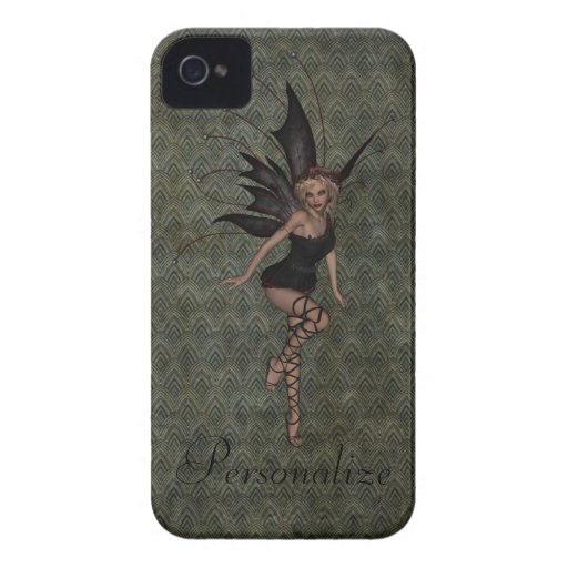 Gorgeous Vintage Gothic Fairy Personalized iPhone 4 Case-Mate Cases