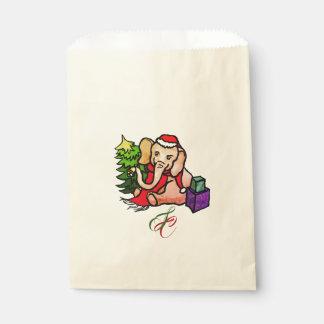 Gorgeous Vintage Santa Elephant with Monogram Favour Bags