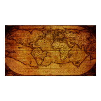Gorgeous Vintage World Map Poster