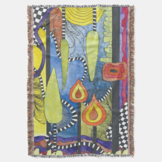 Gorgeous water color unique abstract throw rug