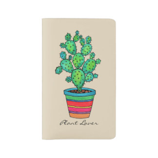 Gorgeous Watercolor Cactus In Beautiful Pot Large Moleskine Notebook