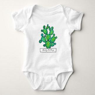 Gorgeous Watercolor Prickly Cactus Baby Bodysuit