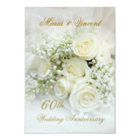 Gorgeous white roses 60th Wedding Anniversary