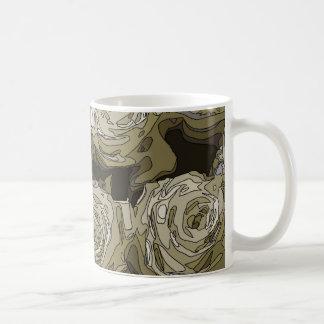 Gorgeous White Roses Vase Basic White Mug