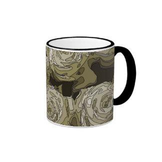 Gorgeous White Roses Vase Mugs