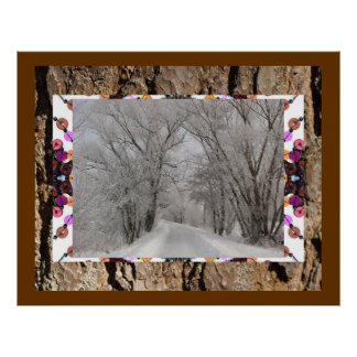 GORGEOUS WINTER COLLAGE POSTER