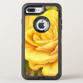 gorgeous yellow rose OtterBox defender iPhone 7 plus case