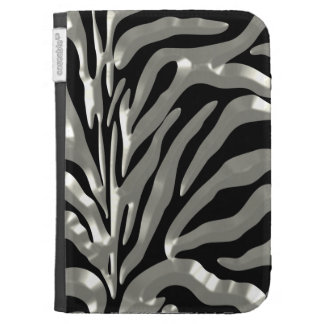 Gorgeous Zebra Pattern with Silver Kindle Folio Cases