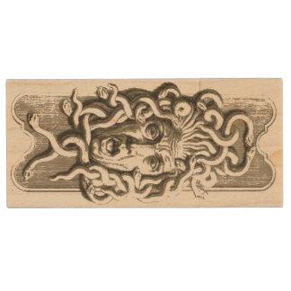 Gorgon / Medusa Maple USB Drive 1 Wood USB 2.0 Flash Drive