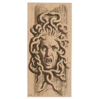 Gorgon / Medusa Maple USB Drive 2 Wood USB 2.0 Flash Drive