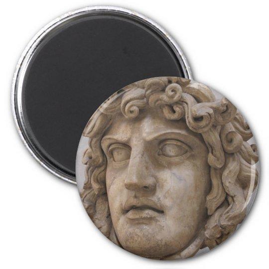 GORGON : The demon from Greek Mythology 6 Cm Round Magnet