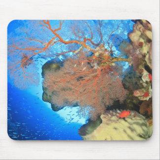 Gorgonian sea fans Gunung Api Island Banda Mouse Pad