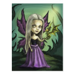Gorhic Fairy and Baby Dragon Postcard