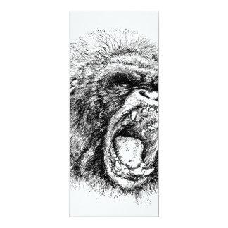 Gorilla 10 Cm X 24 Cm Invitation Card