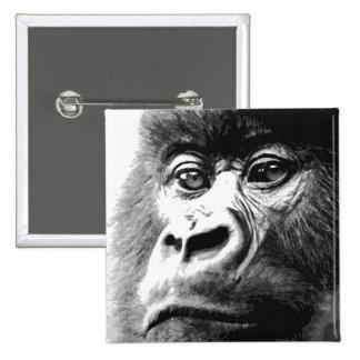 Gorilla 15 Cm Square Badge