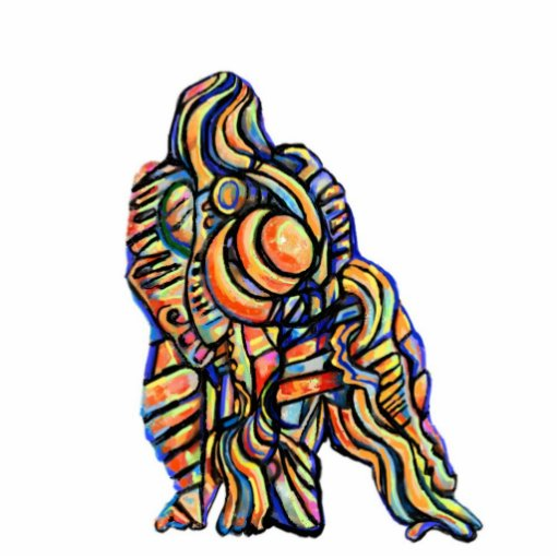 Gorilla Abstract Shape Magnet/Keychain/Ornament Cut Out