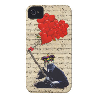 Gorilla and heart balloons iPhone 4 Case-Mate cases