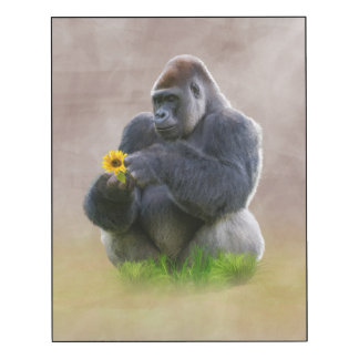 Gorilla and Yellow Daisy