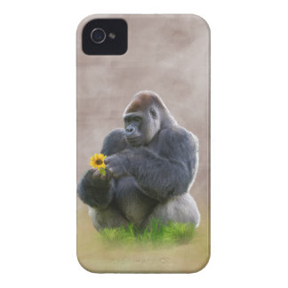 Gorilla and Yellow Daisy iPhone 4 Case
