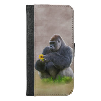 Gorilla and Yellow Daisy iPhone 6/6s Plus Wallet Case
