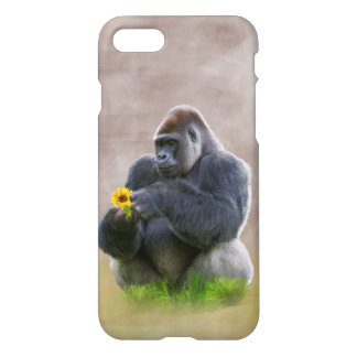 Gorilla and Yellow Daisy iPhone 7 Case