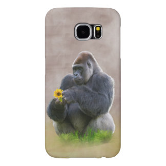 Gorilla and Yellow Daisy Samsung Galaxy S6 Cases