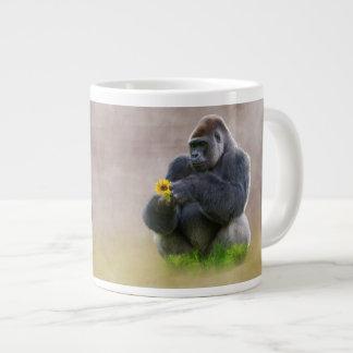 Gorilla and Yellow Daisy Extra Large Mugs