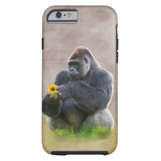 Gorilla and Yellow Daisy Tough iPhone 6 Case