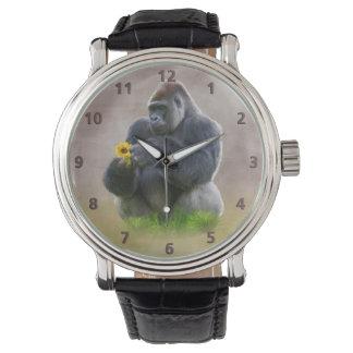 Gorilla and Yellow Daisy Watch