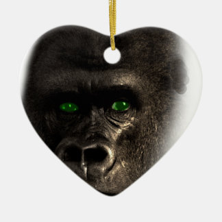 Gorilla Ape Monkey Ceramic Heart Decoration