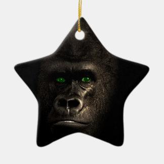Gorilla Ape Monkey Ceramic Star Decoration