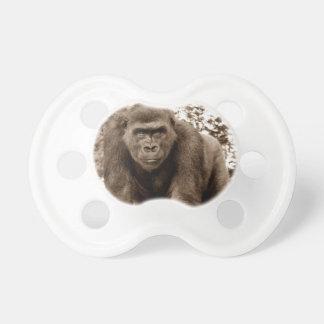 Gorilla Ape Primate Wildlife Animal Photo Baby Pacifier