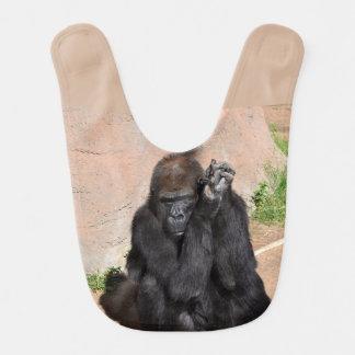 Gorilla Baby Bib
