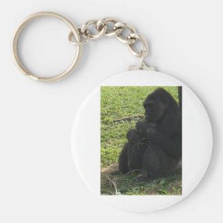 gorilla basic round button key ring